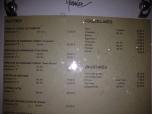 Garnier menu