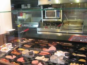 A Belgium friterie serving up Frikandel
