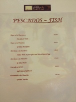 Casa Roberto menu: Fish