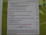 Paella menu
