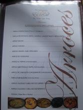 El Rall menu