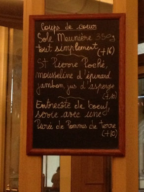 La Régalade Saint Honoré daily specials menu