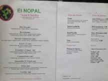 El Nopal menu